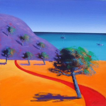- Cuadro - Red Path (oil on board)- - Powis, Paul