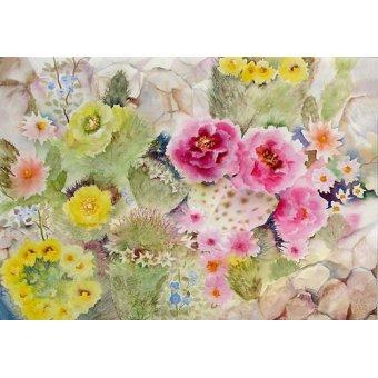 - Cuadro - Blooming Cacti- - Pushparaj, Neela
