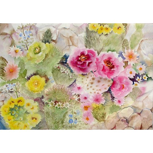 Cuadro - Blooming Cacti-