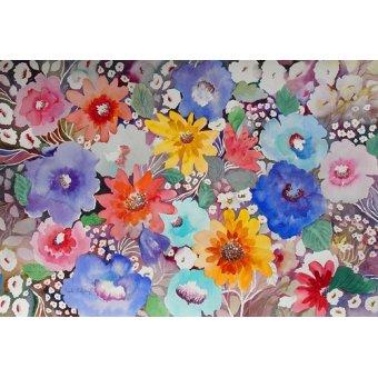 - Cuadro - floral quilt- - Pushparaj, Neela