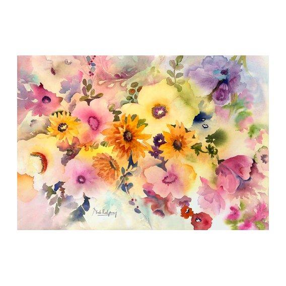 Cuadro - golden blossoms-