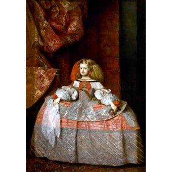 - Cuadro -Retrato de la Infanta doña Margarita de Austria- - Velazquez, Diego de Silva