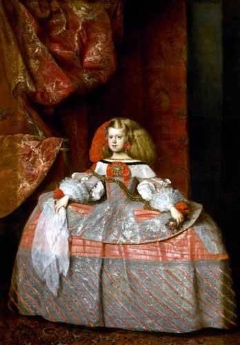 cuadros-de-retrato - Cuadro -Retrato de la Infanta doña Margarita de Austria- - Velazquez, Diego de Silva