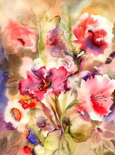 hall - Cuadro - just lily- - Pushparaj, Neela