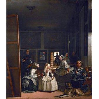 - Cuadro -Las meninas, familia de Felipe IV- - Velazquez, Diego de Silva