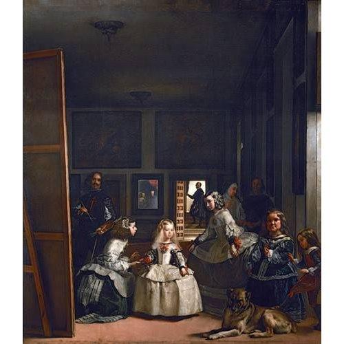 cuadros de retrato - Cuadro -Las meninas, familia de Felipe IV-