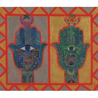 cuadros etnicos y oriente - Cuadro -Protective Hands, 1992- - Shawa, Laila