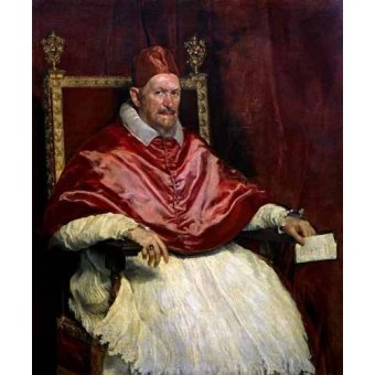 - Cuadro -Retrato del Papa Inocencio- - Velazquez, Diego de Silva
