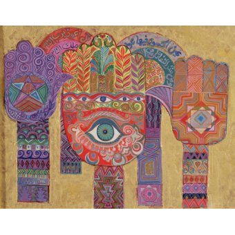 cuadros etnicos y oriente - Cuadro -Protective Amulets, 1992- - Shawa, Laila