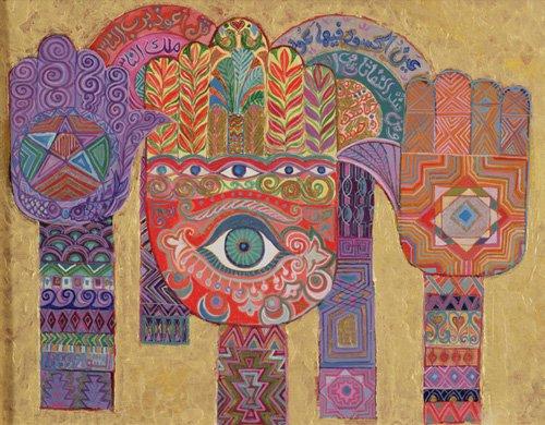 cuadros-etnicos-y-oriente - Cuadro -Protective Amulets, 1992- - Shawa, Laila