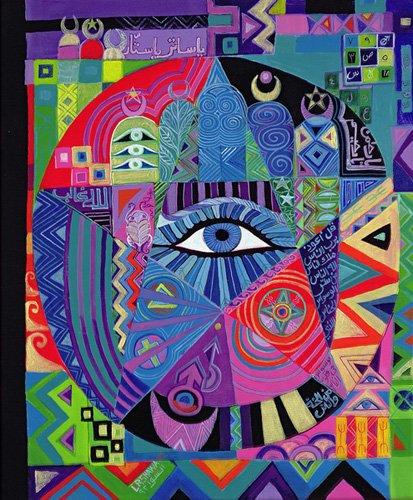 cuadros-etnicos-y-oriente - Cuadro -Eye of Destiny, 1992- - Shawa, Laila