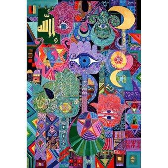 cuadros etnicos y oriente - Cuadro -Magical Symbols, 1992- - Shawa, Laila