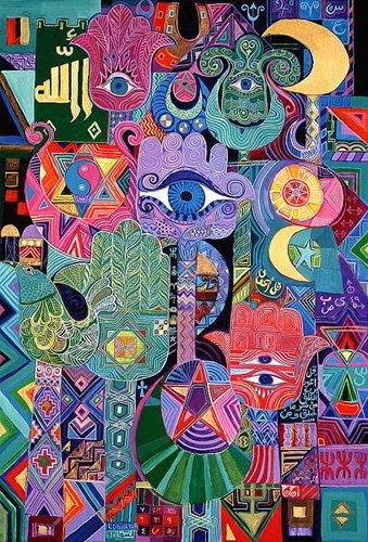 cuadros-etnicos-y-oriente - Cuadro -Magical Symbols, 1992- - Shawa, Laila