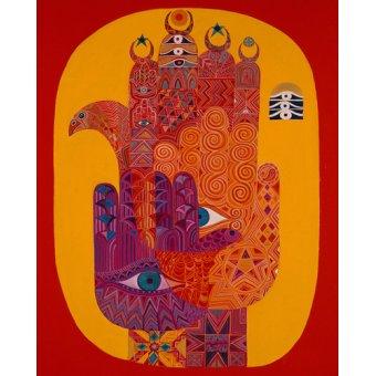 cuadros etnicos y oriente - Cuadro -Amulets, 1992- - Shawa, Laila