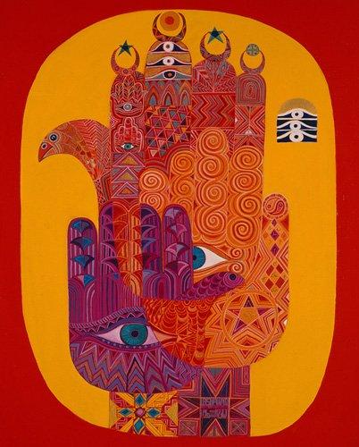 cuadros-etnicos-y-oriente - Cuadro -Amulets, 1992- - Shawa, Laila