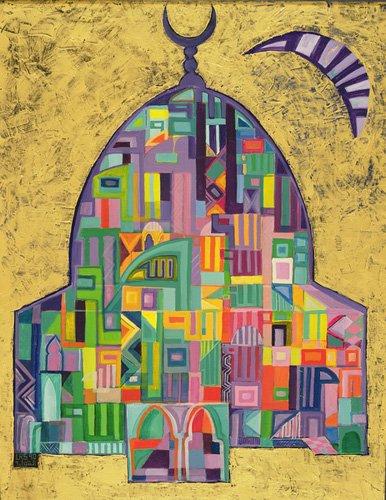 cuadros-etnicos-y-oriente - Cuadro -The House of God II, 1993-94- - Shawa, Laila