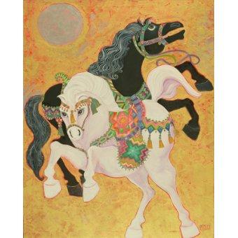 cuadros etnicos y oriente - Cuadro -Antar and Abla, 1989- - Shawa, Laila