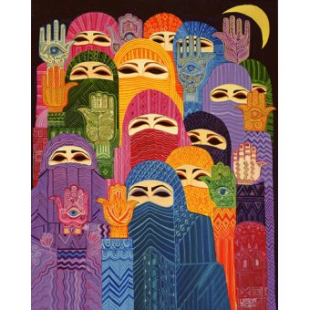 cuadros etnicos y oriente - Cuadro -The Hands of Fatima, 1989- - Shawa, Laila