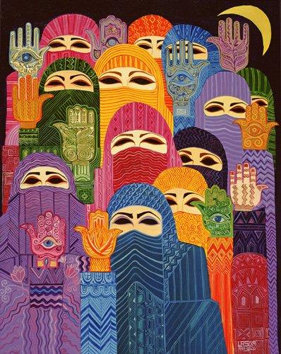 cuadros-etnicos-y-oriente - Cuadro -The Hands of Fatima, 1989- - Shawa, Laila