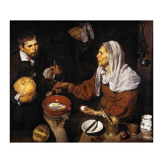 cuadros de bodegones - Cuadro -Vieja friendo huevos-
