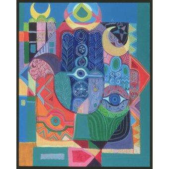 cuadros etnicos y oriente - Cuadro -Hands as Amulets I, 1992- - Shawa, Laila