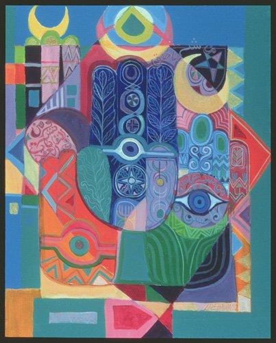 cuadros-etnicos-y-oriente - Cuadro -Hands as Amulets I, 1992- - Shawa, Laila