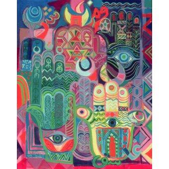 cuadros etnicos y oriente - Cuadro -Hands as Amulets II, 1992- - Shawa, Laila