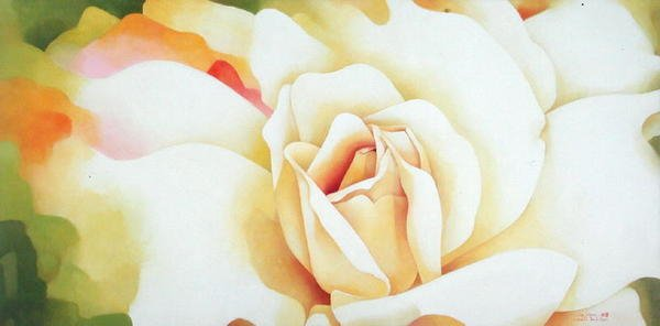 cuadros-de-flores - Cuadro -The Rose, 1997- - Sim, Myung-Bo