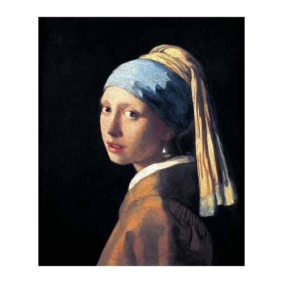 cuadros de retrato - Cuadro -La joven de la perla-