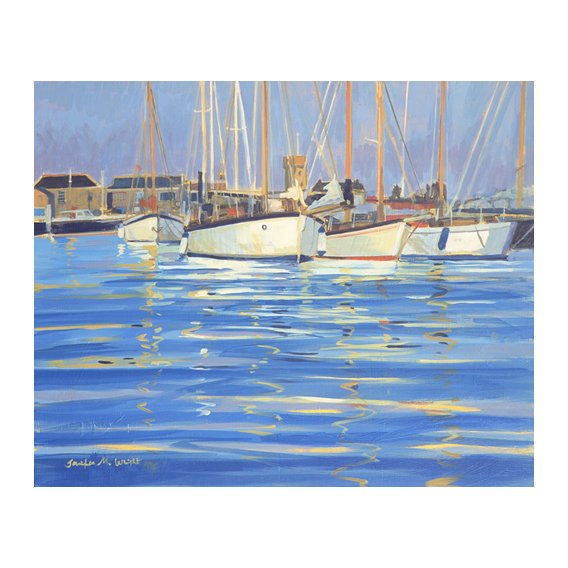 Cuadro - Isle of Wight Old Gaffers, 2000 (oil on board) -