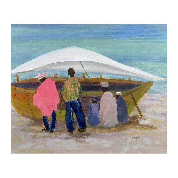 Cuadro - Boat Mending (oil on canvas) -
