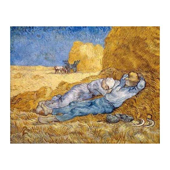 cuadros de retrato - Cuadro -La siesta-