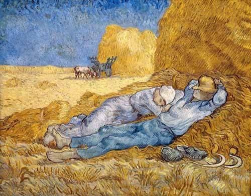 cuadros-de-retrato - Cuadro -La siesta- - Van Gogh, Vincent