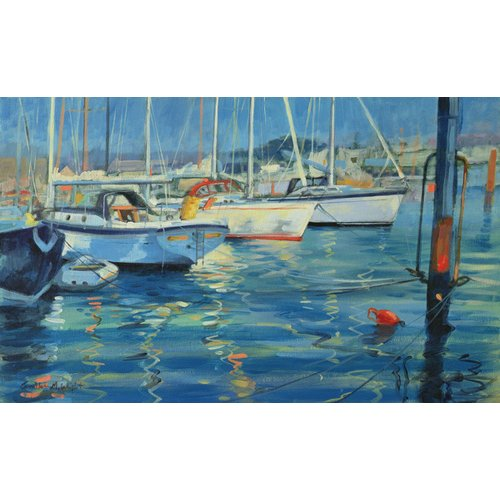 Cuadro - Isle of Wight - Yacht Reflections, 2010 (oil on board) -