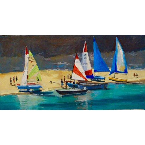 Cuadro -  Salcombe Smalls Cove Dinghies  -