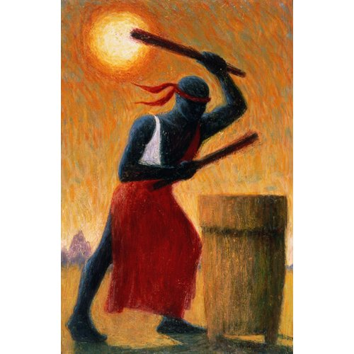 Cuadro - The Drummer, 1993 (oil on canvas) -