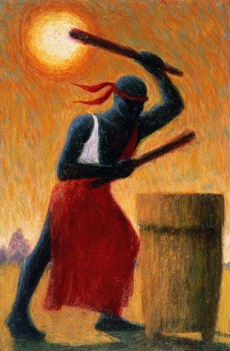 cuadros-etnicos-y-oriente - Cuadro - The Drummer, 1993 (oil on canvas) - - Willis, Tilly