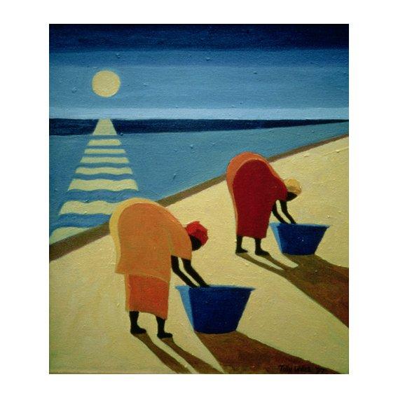 Cuadro - Beach Bums, 1997 (oil on canvas) -