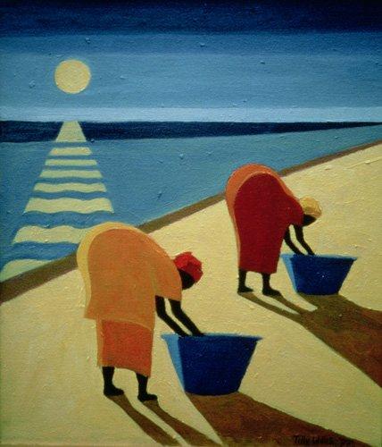 cuadros-etnicos-y-oriente - Cuadro - Beach Bums, 1997 (oil on canvas) - - Willis, Tilly