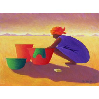 - Cuadro - Washer Woman, 1999 (oil on canvas) - - Willis, Tilly