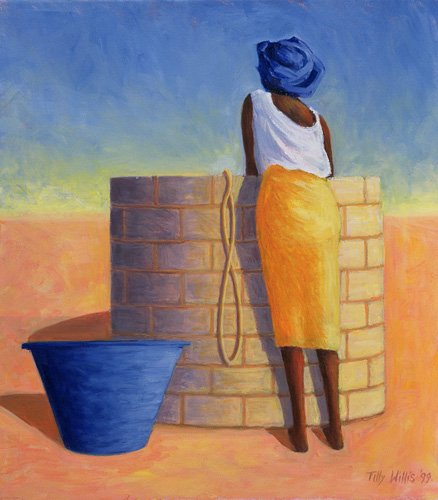 cuadros-etnicos-y-oriente - Cuadro - Well Woman, 1999 (oil on canvas)- - Willis, Tilly