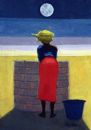cuadros-etnicos-y-oriente - Cuadro - Moonlit Evening, 2001 (oil on canvas)- - Willis, Tilly