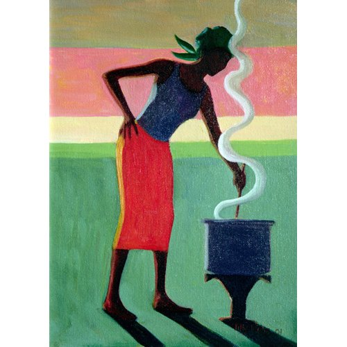 Cuadro - Cooking Rice, 2001 (oil on canvas)  -