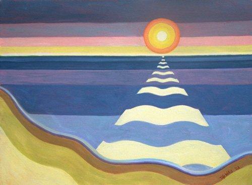 cuadros-etnicos-y-oriente - Cuadro - Evening Sun, 2003 (oil on canvas) - - Willis, Tilly