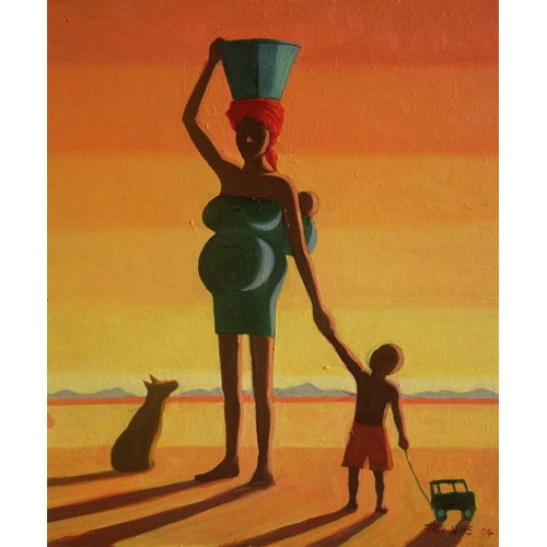 Cuadro - Matriarch, 2004 (oil on canvas) -