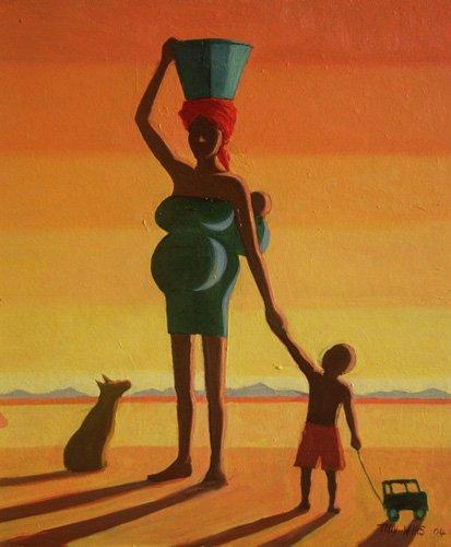 cuadros-etnicos-y-oriente - Cuadro - Matriarch, 2004 (oil on canvas) - - Willis, Tilly
