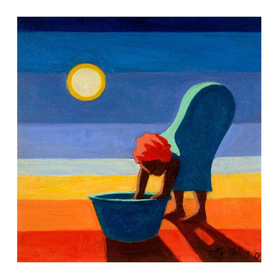 Cuadro - Bending Woman, 2005 (oil on canvas) -