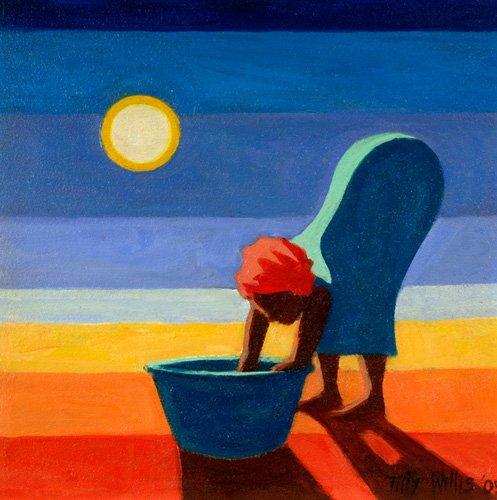 cuadros-etnicos-y-oriente - Cuadro - Bending Woman, 2005 (oil on canvas) - - Willis, Tilly