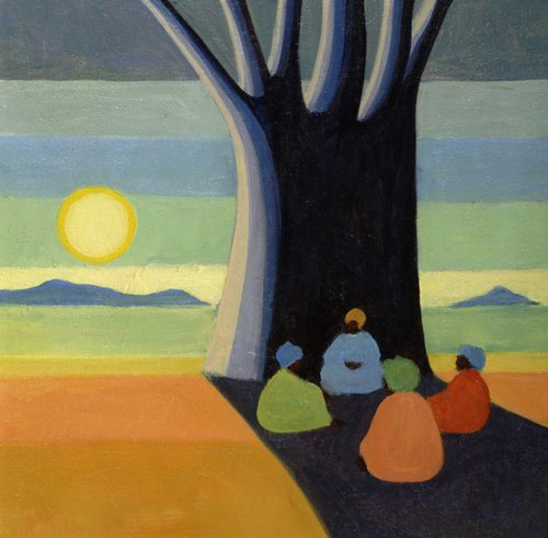 cuadros-etnicos-y-oriente - Cuadro - The Meeting, 2005 (oil on canvas) - - Willis, Tilly