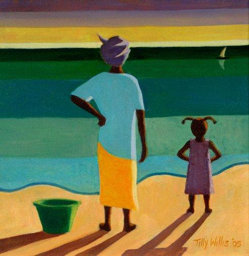 cuadros-etnicos-y-oriente - Cuadro - Waiting, 2005 (oil on canvas) - - Willis, Tilly